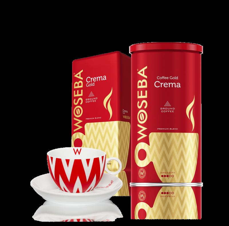 Zestaw kaw mielonych CREMA z filiżanką