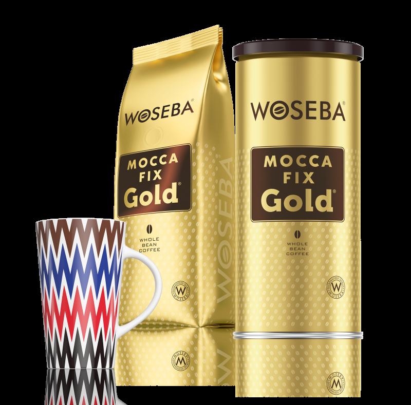 Zestaw kaw ziarnistych MOCCA FIX GOLD z kubkiem
